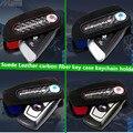 Замши углеродного волокна ключ чехол брелок чехол сумка кожа /// m эмблема ключ чехол для BMW F10 F30 F20 X3 X1 X5 X6