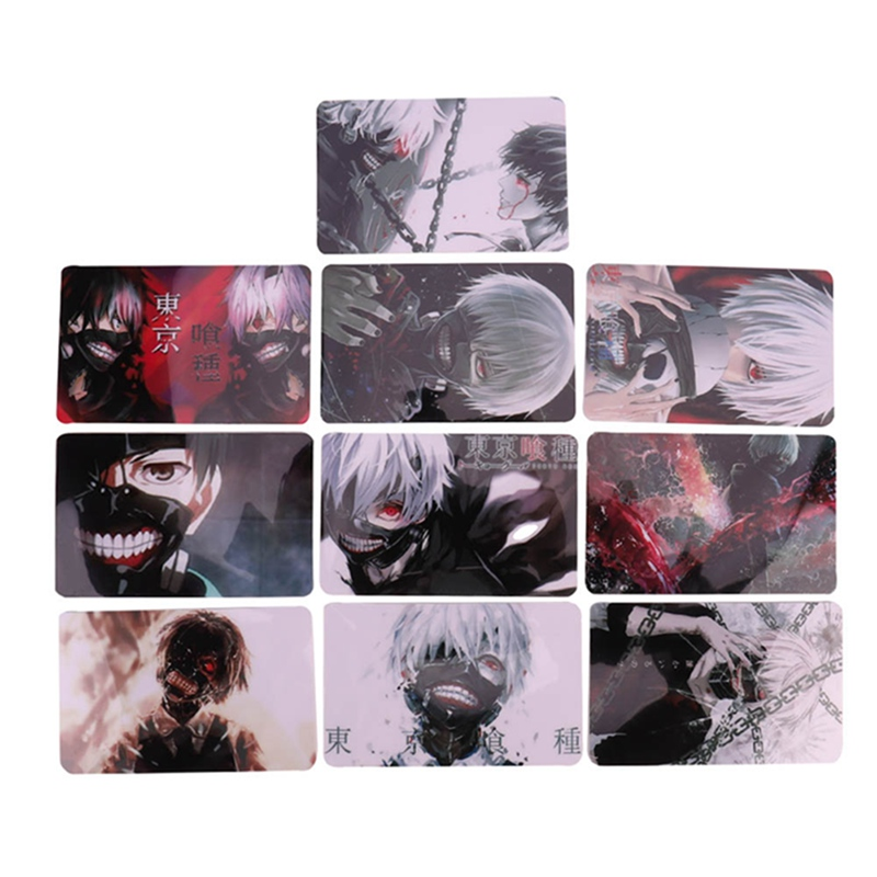 10pcs/set Anime Character Crystal Card Stickers Cartoon Characters Stationary Sticker