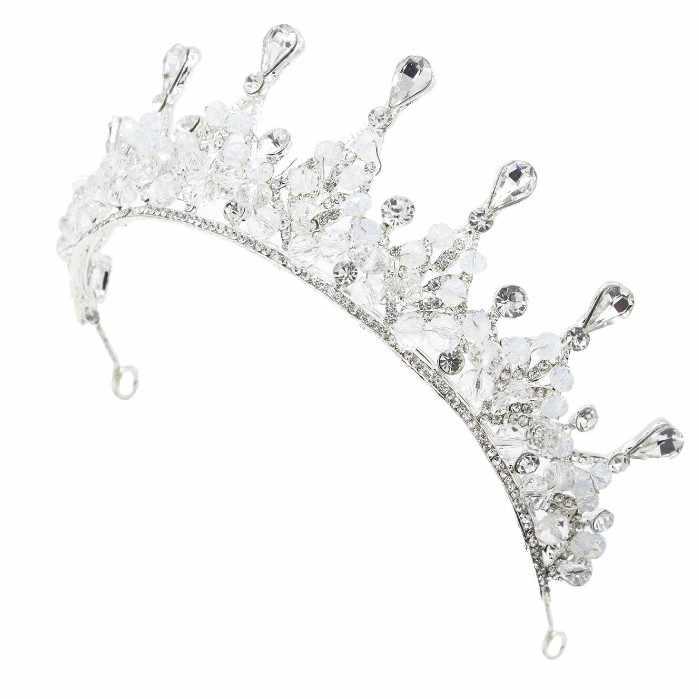 2019 nouvelle mode magnifique argent cristal couronne de mariée diadème diadème diadème diadème pour les femmes mariée mariage événement fête cheveux accessoires