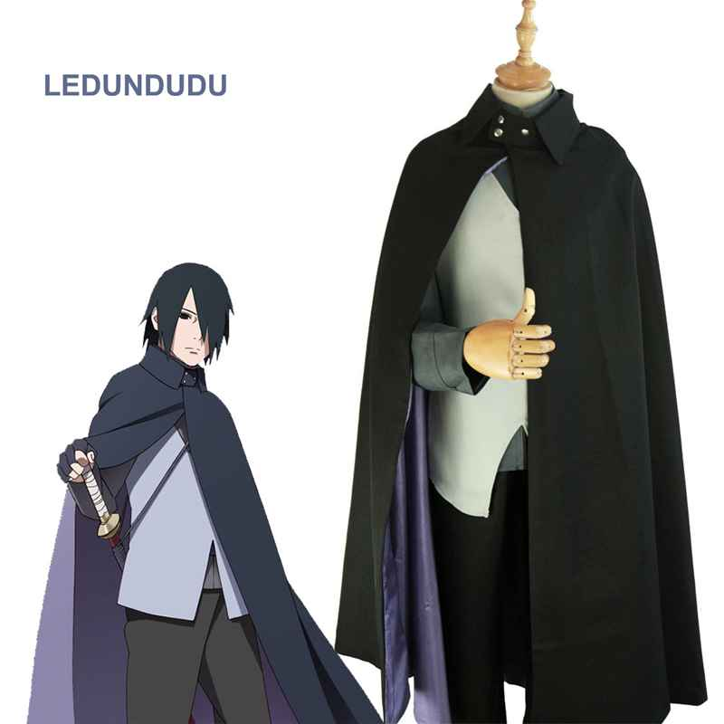 Anime Boruto Naruto The Movie Uchiha Sasuke Cosplay Costumes Halloween Party Uniform Suit Complete Full Set