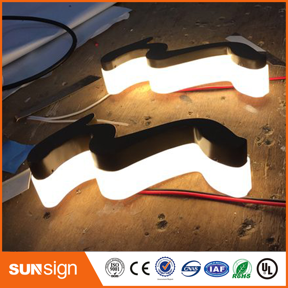 Customized 3d LED Signage Store Backlit Metal Channel Letter