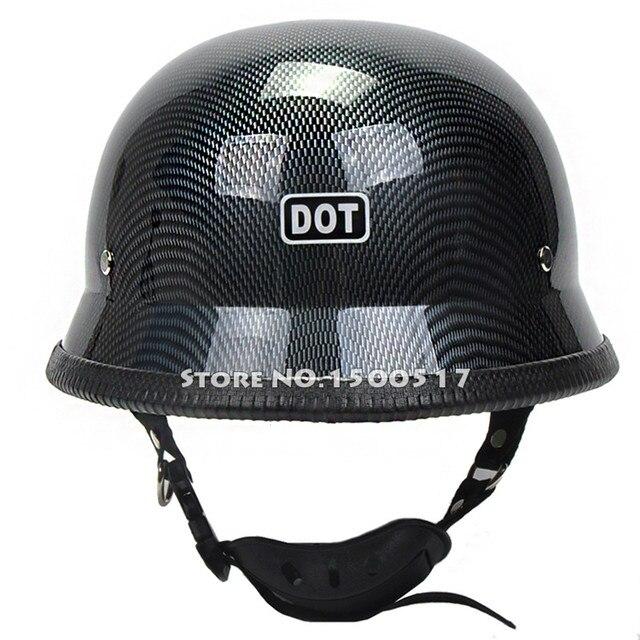 Carbon Fiber Motorcycle Helmets >> WWII German Style Vintage Motorcycle Helmet Carbon Fiber Graphics Moto Motocicleta Capacete ...