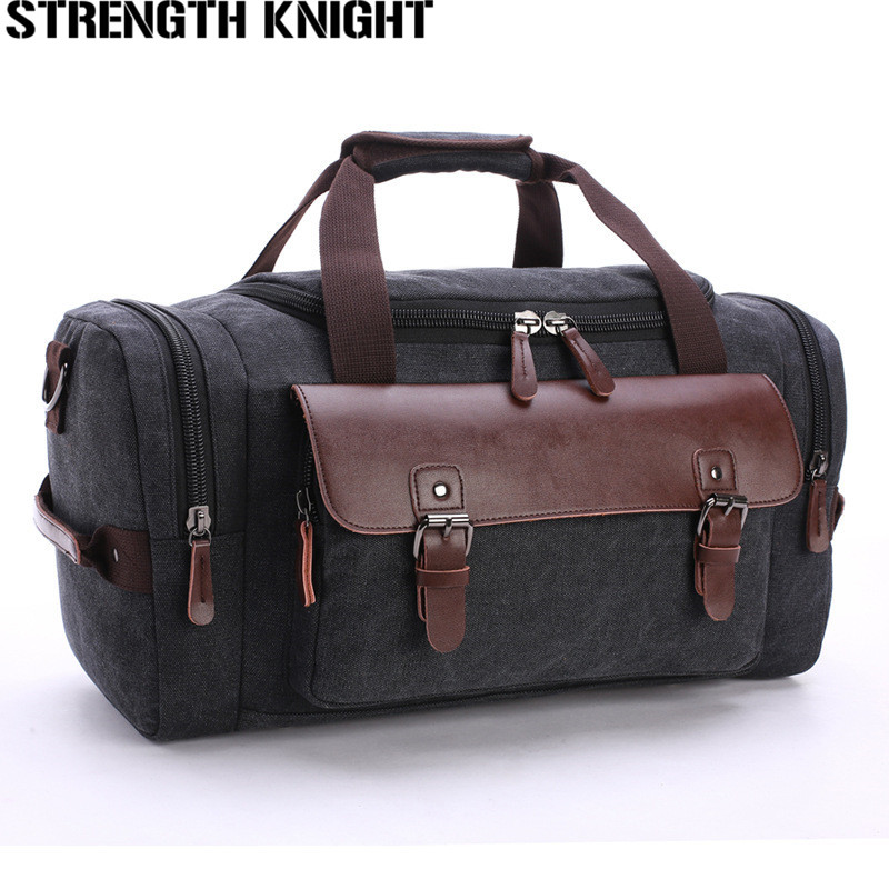 все цены на Canvas Leather Patchwork Travel Bags Men Canvas Hand Luggage Duffel Bags Travel Bags Large Tote Multifunction luggage duffle bag
