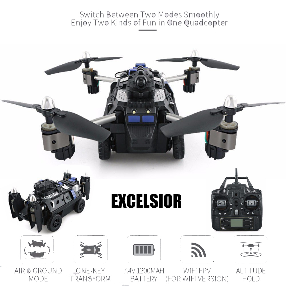 JJRC H40WH 2.4G 4CH Excelsior RC Drone with 2.0MP WIFI HD Camera w/ Altitude Hold Headless Mode One Key Land RC Quadcopter Drone jjr c jjrc h26wh wifi fpv rc drones with 2 0mp hd camera altitude hold headless one key return quadcopter rtf vs h502e x5c h11wh