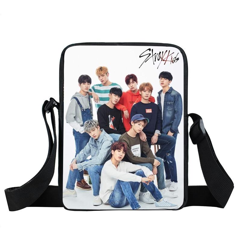 KPOP Stray Kids Mini Messenger Bag StrayKids MINHO JISUNG WOOJIN CHANGBIN FELIX Korean Teenager Cross Bag Women Shoulder Bag