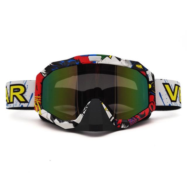 MJ81 QL037C Gafas de Motocross Cross Country Esquís Snowboard Máscara Gafas Gafas de Motocross Casco de La Motocicleta MX Goggles Gafas