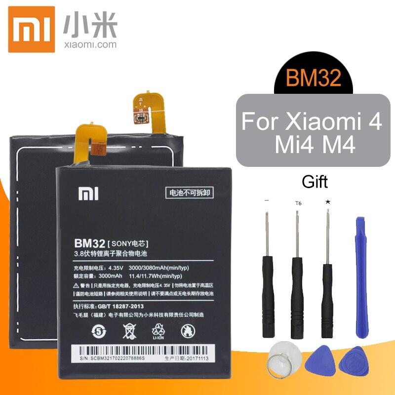 Xiaomi Phone Battery BM32 3000mAh High Capacity High Quality for Xiaomi Mi 4 M4 Mi4 Original Replacement Battery Retail PackageXiaomi Phone Battery BM32 3000mAh High Capacity High Quality for Xiaomi Mi 4 M4 Mi4 Original Replacement Battery Retail Package