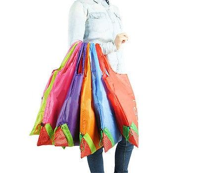 Sac en Nylon d'épicerie réutilisable pliant Floral grand sac à provisions de fraise fourre-tout mignon de voyage