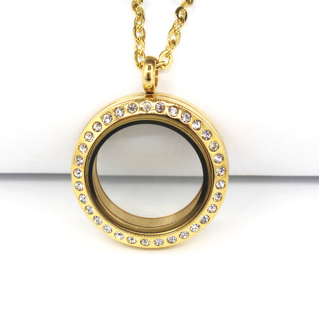 polished filled round yellow necklace gold amazon lockets locket com dp