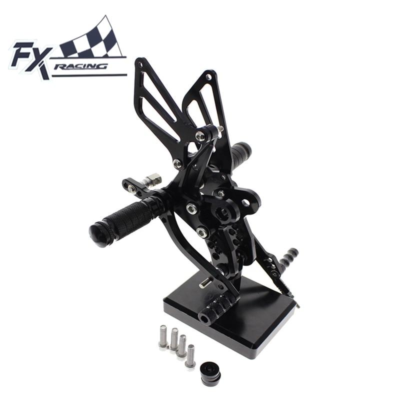 CNC Motorcycle Foot Pegs Rest Footpegs Pedals Rearset Footrest Rear Set For Suzuki GSXR1300 HAYABUSA GSX 1300R 1999-2012 2000
