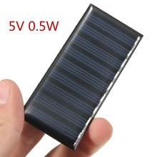 פנל סולארי DIY 5V 0.5W 100mAh מיני סוללה מופעל מודלים Polycrystalline הסיליקון אפוקסי עבור טעינה נייד DC סיטונאי
