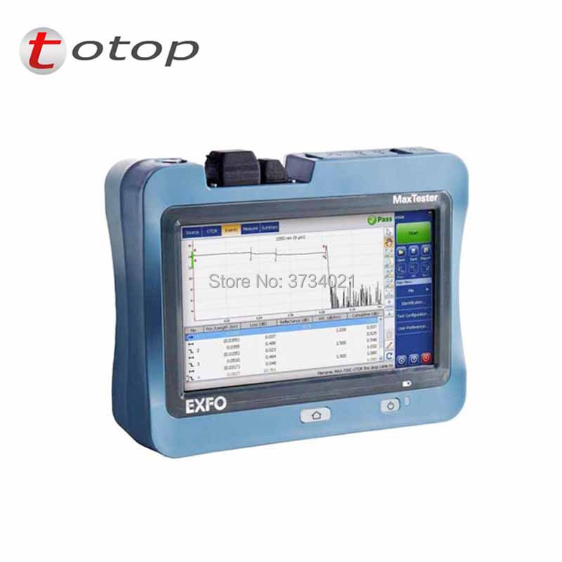 OTDR EXFO MaxTester 720C OTDR, SM Optical Time Domain Reflectometer 1310/1550 Nm, 36/35dB, 7 Inch Touch Screen Otdr