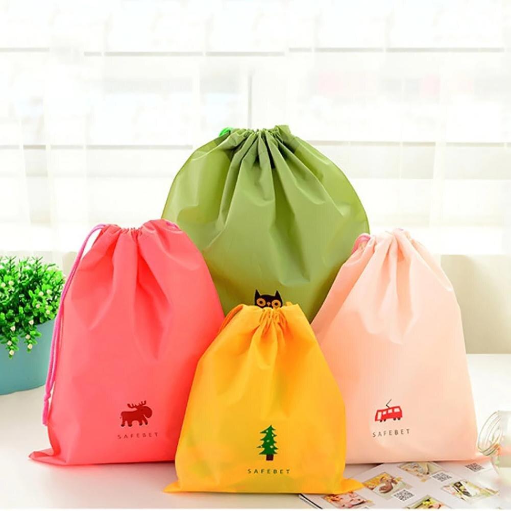 Creative Home Clothes Storage Bag Simple Small Fresh Printed Closet Organizer Beam Pocket Waterproof Cloth Organizer S M L