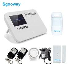 Sgooway sistema de alarme residencial, gsm sem fio com detector pir russo espanhol francês segurança gsm