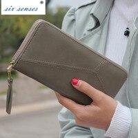 Six Senses Geometric Wristband Women Wallet Female Long Zipper Women Purse Large Capacity Coin Wallet Purse