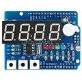Часы Щит модуль RTC DS1307 модуль Многофункциональный Плата Расширения с 4 Разрядный Дисплей Датчик Света и Термистор Для Arduino