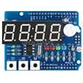 Clock Shield RTC module DS1307 module Multifunction Expansion Board with 4 Digit Display Light Sensor and Thermistor For Arduino