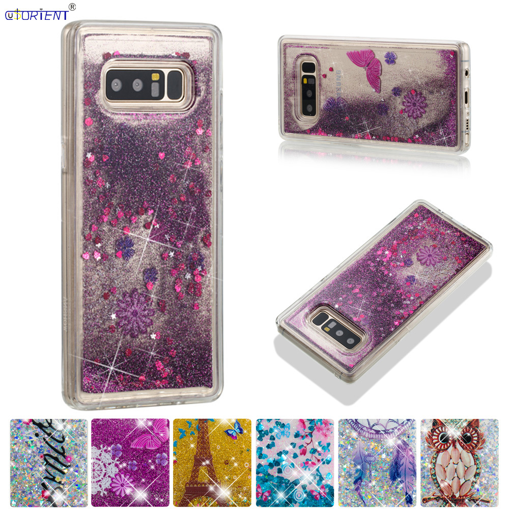 Discreet For Samsung Galaxy Note 8 Cute Glitter Back Case Note8 Sm-n950f Sm-n950f/ds Bling Dynamic Liquid Quicksand Soft Tpu Bumper Cover Extremely Efficient In Preserving Heat Cellphones & Telecommunications Phone Bags & Cases