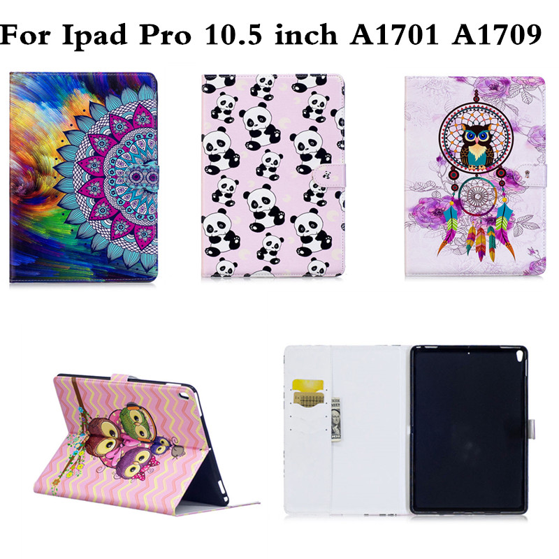 Coloful OWI Panda PU Leather Stand case For Apple iPad Pro 10.5 Tablet Cover Protective shell for iPadPro 10.5 inch A1701 A1709