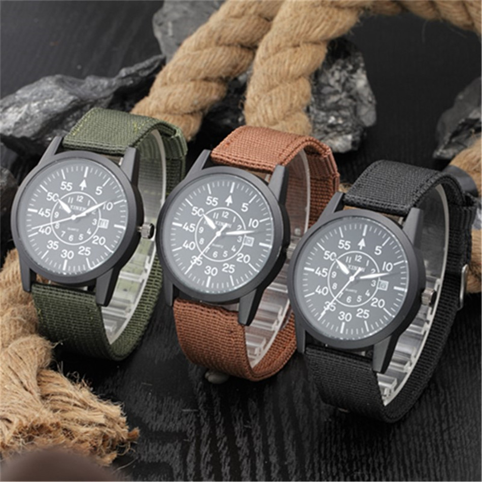 Sanwony Hot Fashion Men Sports Watches Men's Quartz Hour Date Clock Man Fabric Strap Military Army Wrist Watch Male Relogio Saat binger nylon strap watch hot sale men watch unisex hour sports military quartz wristwatch de marca fashion female male relojes