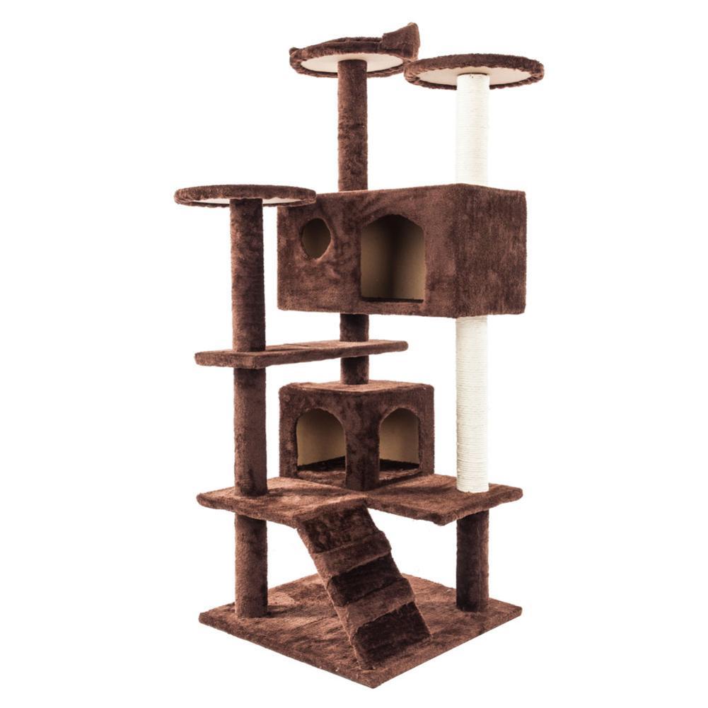 Chat jouet solide mignon Sisal corde en peluche chat escalade arbre chats tour marron drôle Cool et élégant robuste Durable livraison rapide
