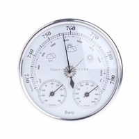 Wall Mounted Household Thermometer Hygrometer High Accuracy Pressure Gauge Air Weather Instrument Barometers G25 Best
