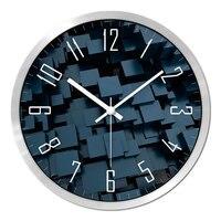 New 3D Felt Wall Clock Home Decoration Wall Watch Modern Design ,Quartz Sweep Movement Abstract Painting Gift 30.5cm