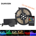 DUMVOIN IP65 Waterproof 5M 5050 RGB 300LEDs Flexible LED Strip DC 12V+20 Key IR Music Controller+12V 5A 60W Power Supply