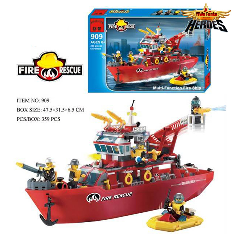 Super Large Fire Station Educational Building Block Compatible with City Fire boats Brick Fireman Toy Lbk_qm_062 jie star fire ladder truck 3 kinds deformations city fire series building block toys for children diy assembled block toy 22024
