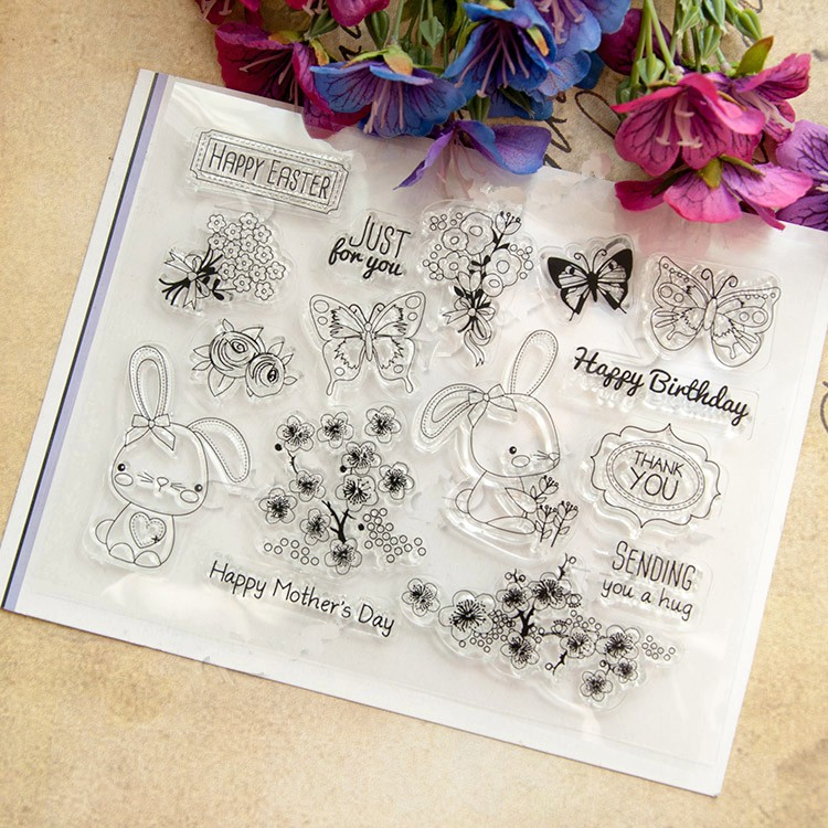scrapbook DIY happy mother date  ACRYLIC VINTAGE clear STAMPS FOR PHOTO timbri SCRAPBOOKING stamp