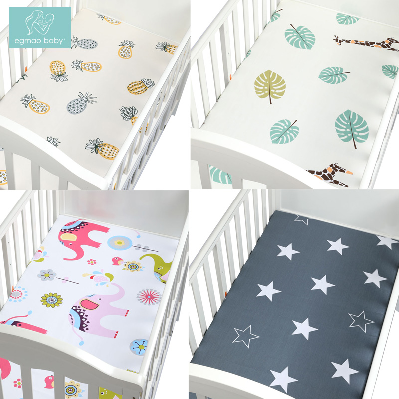 Newborn baby crib fitted sheets Cartoon soft crib bed sheet cotton kids bedding mattress protectors covers baby bedsheet 130*70