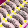 10 Pairs Black Hand made long false eyelashes fake eye lashes extension Makeup Beauty Tool maquiagem #29