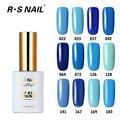 RS 15ml Nail Polish Gel LED Light UV Manicure for Gel Nail UV Gel Nail Polish Blue series Long Lasting Bluesky Colors Coat