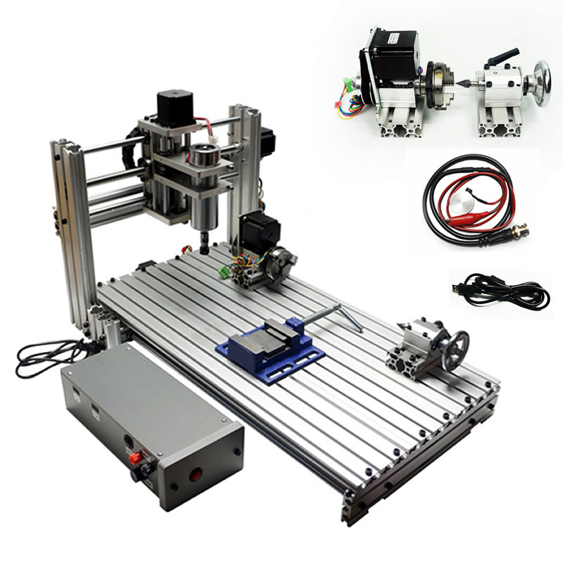 4axis USB Port DIY Mini Cnc 3axis Engraving Machine 3060 6030 With ER11 Collet Cnc Router