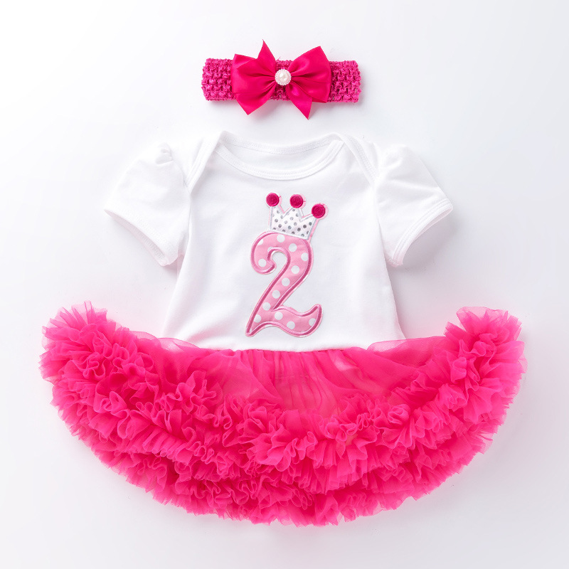 Baby Girl Princess <font><b>Dresses</b></font> 1 <font><b>2</b></font> years Infant Girls 1st <font><b>Birthday</b></font> Party Minnie Tutu Toddler Kids Clothes Baby Christening Vestidos image