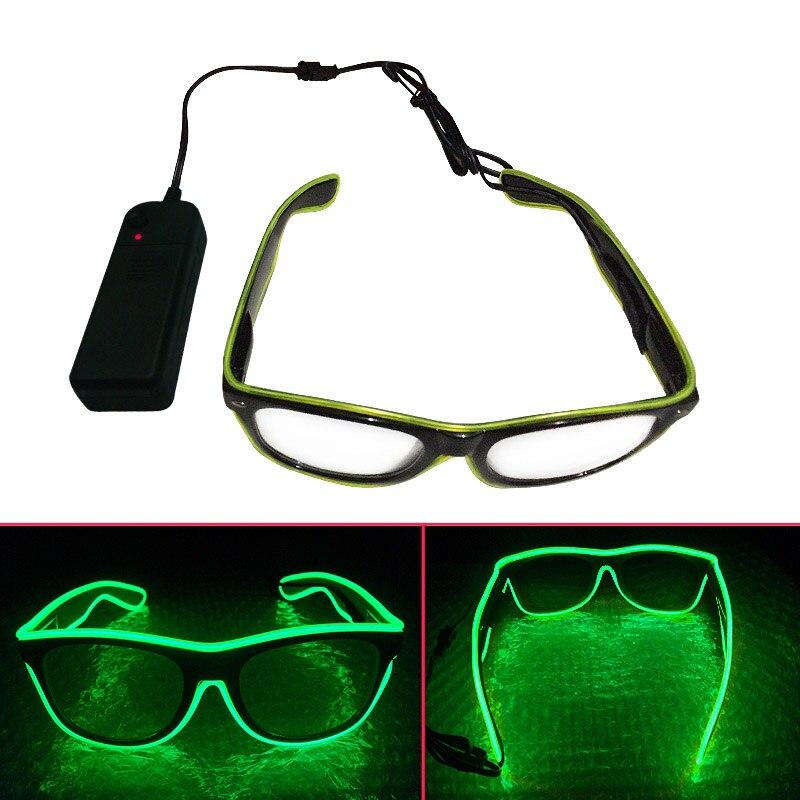 Мода el Провода Очки голос Управление неоновый свет до Glow светящиеся очки Солнцезащитные очки для женщин Костюм партии activing реквизит FJ