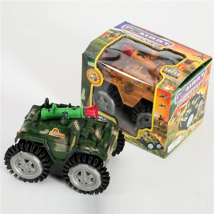 1pcpack children electronic flashing vehicle tank kids battery traffic car electric tank diecast