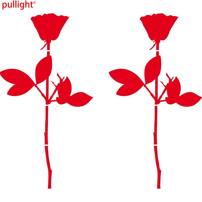 2 Pcs Rose Die Cut Vinyl Decal Self Adhesive Stickers Depeche Mode sophie scholl die weise rose cd
