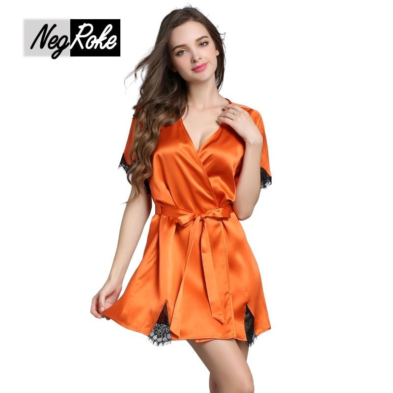 New Summer sexy 100% silk women robes quality silk short-sleeved golden soft ladies bathrobes sleep lounge women silk robes