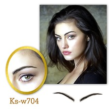 Neitsi Woman One pair 100% Handmade Human Hair Lace Base Fake Eyebrows KS-W704