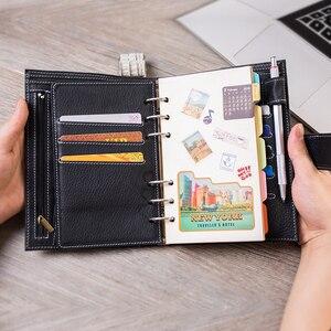 Image 3 - Yiwi A6/Persoonlijke A7 Vintage Lederen Travelers Notebook Dagboek Journal Handgemaakte Koeienhuid gift reizen notebook Accessoires