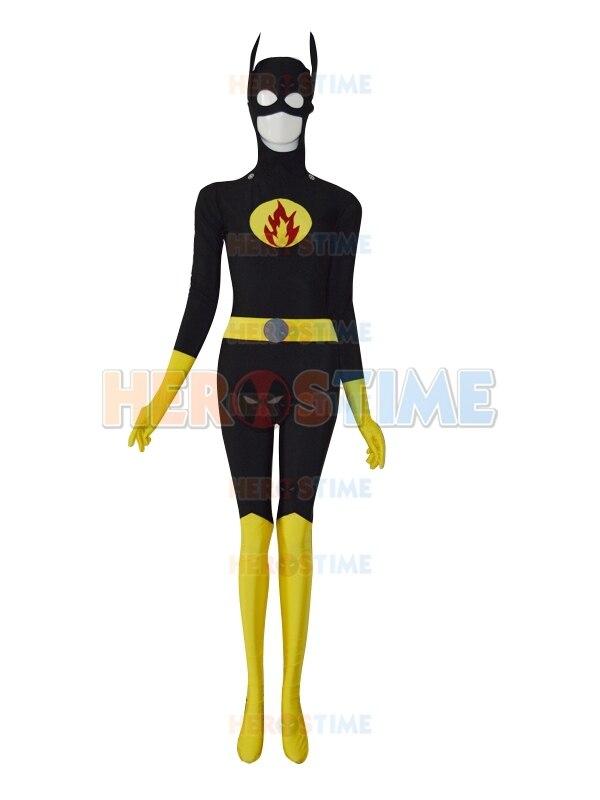 Costume de super-héros de symbole personnalisé de conception de Batgirl le costume de Batgirl de spandex de fête de cosplay d'halloween le plus populaire
