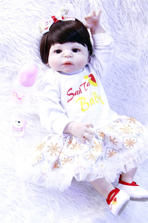 NPK bambole bambino vero 23 57 cm pieno silicone reborn baby girl dolls giocattoli per il regalo del bambino bebes reborn menina bonecasNPK bambole bambino vero 23 57 cm pieno silicone reborn baby girl dolls giocattoli per il regalo del bambino bebes reborn menina bonecas