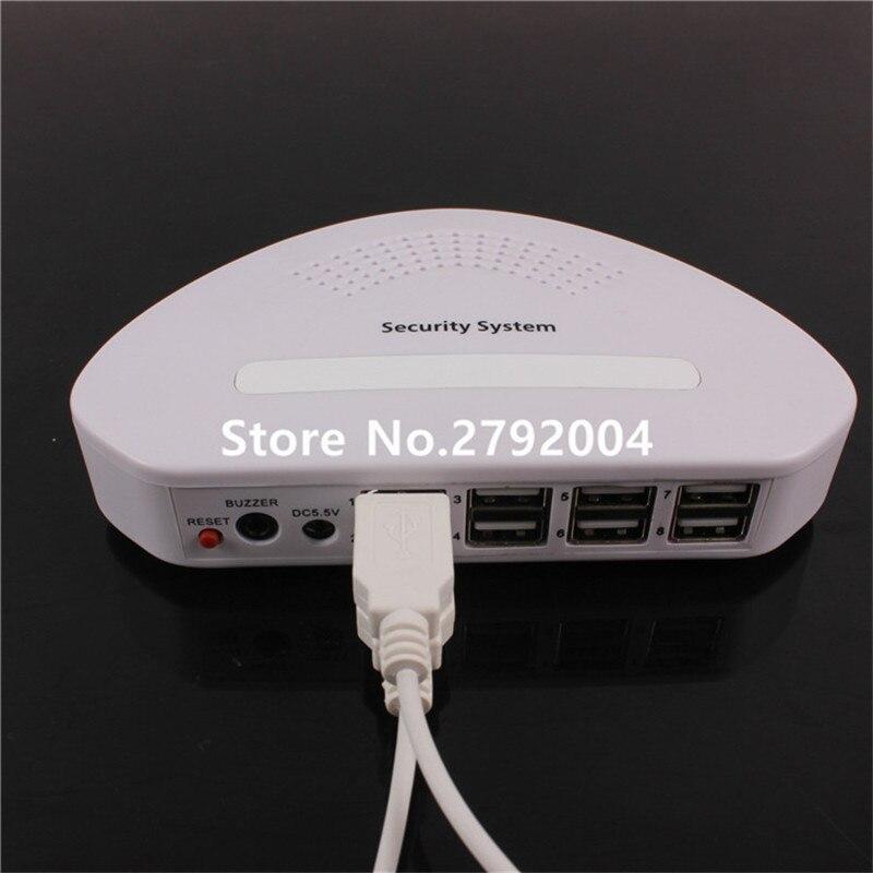 8 USB ports Cellphone tablet pc security Burglar alarm device system