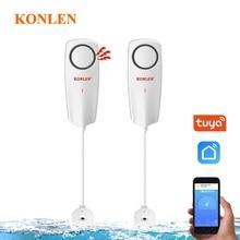 KONLEN capteur de fuite de liquide WIFI, sans fil, détecteur de niveau deau, Buzzer de débordement, application Tuya Smart Life et alarmes Push