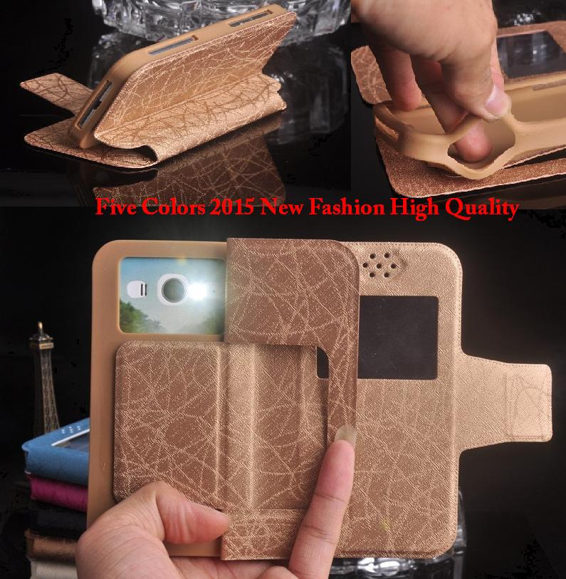 Fashion Fly IQ4409 Case, Luxury Flip PU Leather Silicon Cover Phone Cases for Fly IQ4409 Era Life 4 Quad Free Shipping