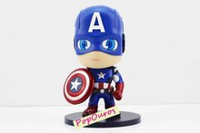High Quality Boxed PVC Marvel Super Heroes Cute Version Captain America Action Figure For Kids Gift