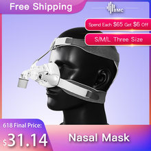 BMC NM4 Nasal Mask CPAP Mask with Headgear and SML 3 Size Silicon Cushion for CPAP Auto CPAP Sleep Snoring Apnea Health & Beauty(China)