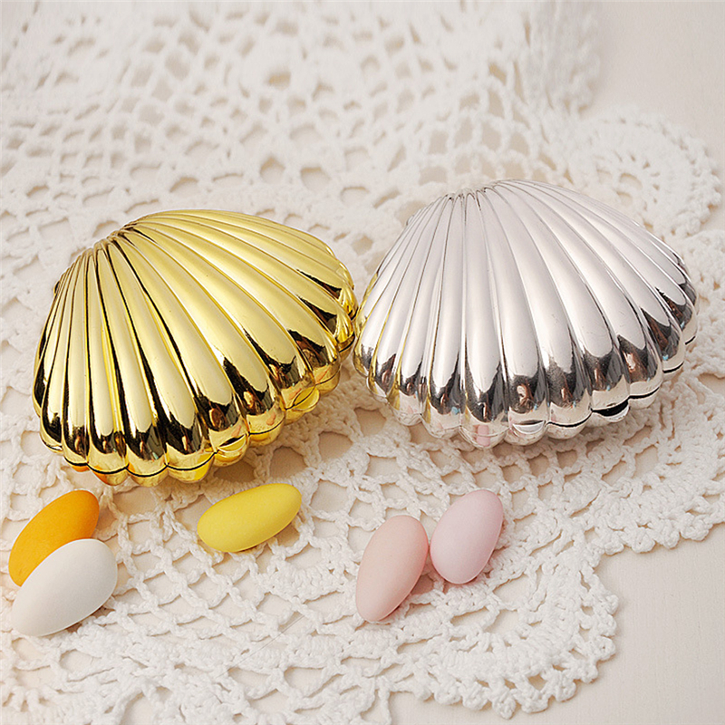 10pcs/Lot Shell Wedding Favor Box Gift Bags Wedding Candy Box Casamento Wedding Favors And Gifts Wedding Decoration