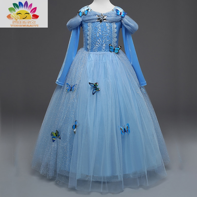 Подробнее о yingwaaiyi party girl dress with butterflies princess costumes for kids princess dresses for little girls baby clothes children baby girls dresses brand princess dress girl clothes kids dresses children costumes 3 14 years old
